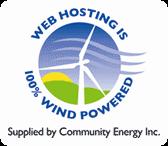 arquible · hosting alimentado con energía eólica