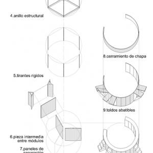 roquetas · esquema módulos · arquible
